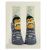 Blue Q With All Due Respect Women's Ankle Socks
