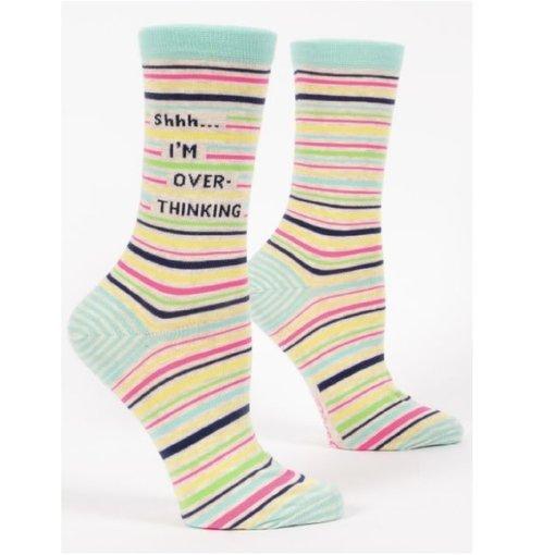 Blue Q Shhh I'm Overthinking Women's Socks