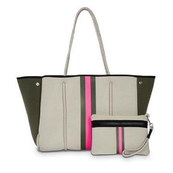 Greyson Swank Pink Stripe Bag