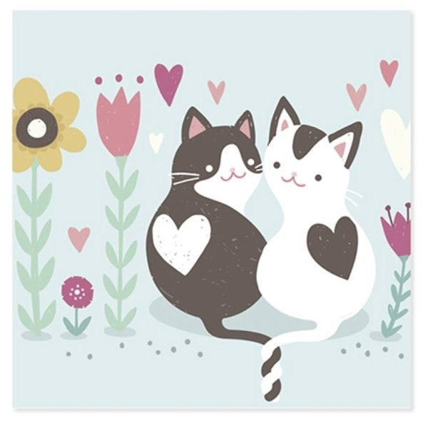Mothers Day Card Kitties