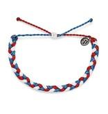Pura Vida Pura Vida Braided Red White Blue Bracelet
