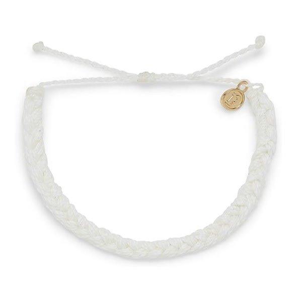 Pura Vida Braided White Bracelet