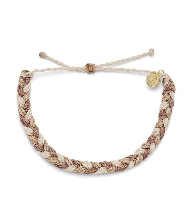 Pura Vida Pura Vida Braided Sandy Toes Bracelet