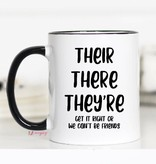 Their there they're Mug