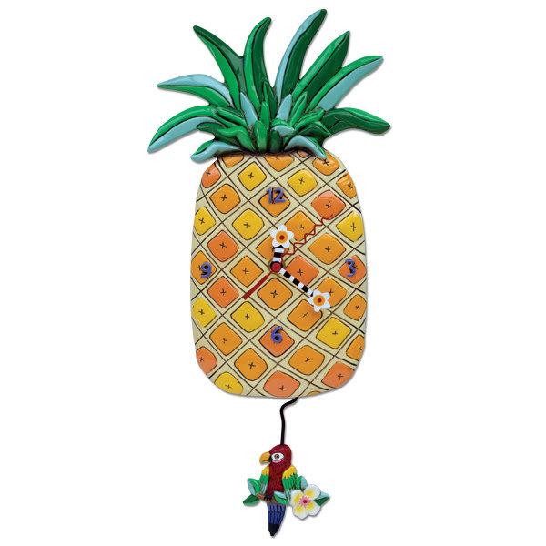 Pineapple Island Clock