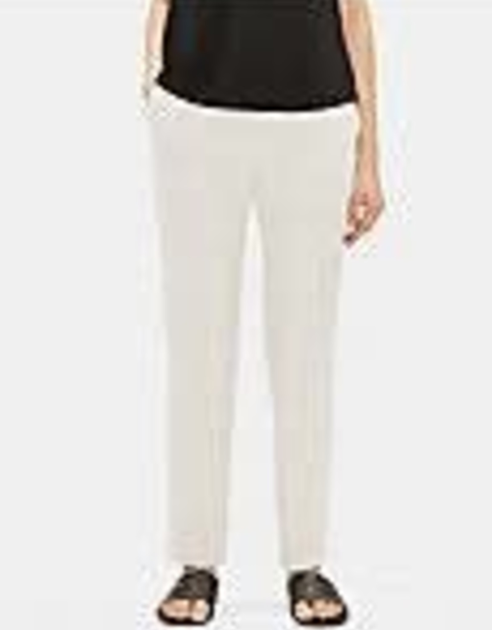 EILEEN FISHER - The System Silk Georgette Crepe Slouchy Ankle Pant