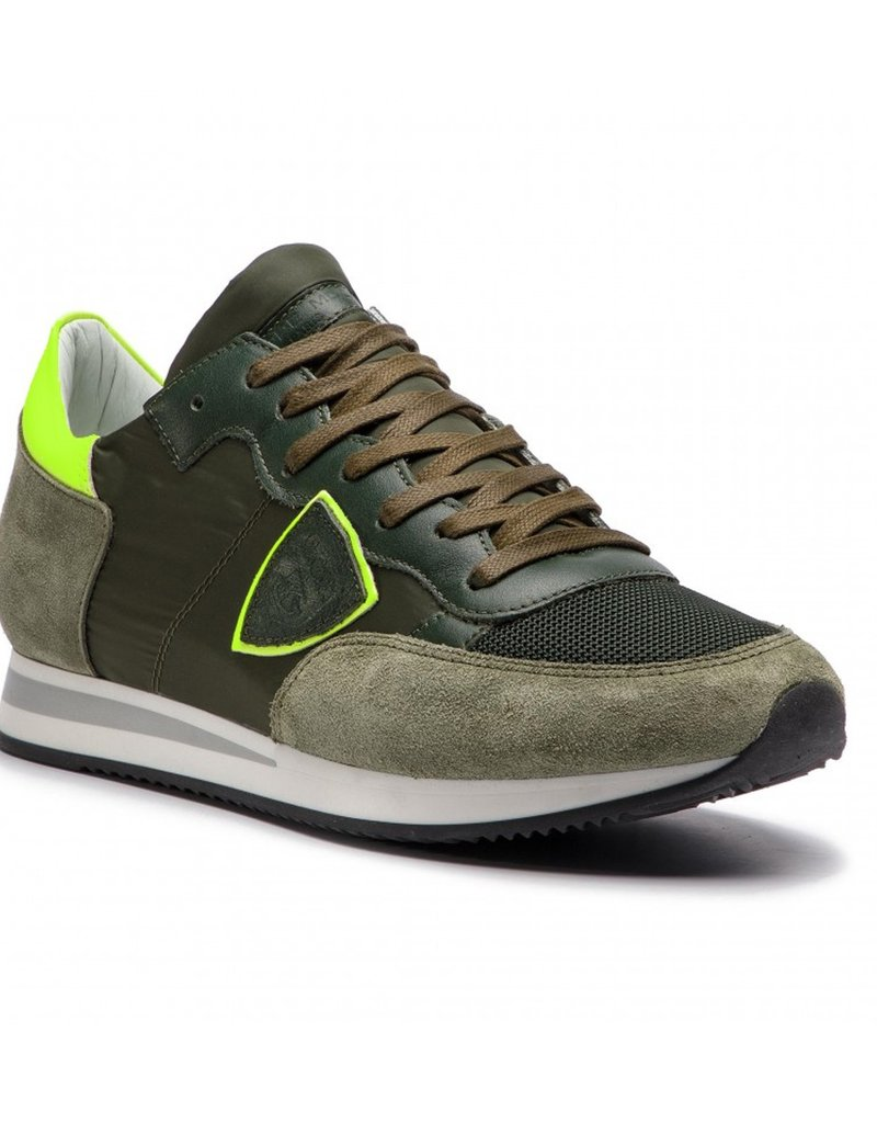 PHILIPPE MODEL - Tropes Mondial Sneaker In Neon Green