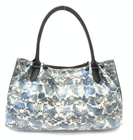 B.MAY BAGS - Pocket Tote in Blue Whipsnake