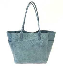 B.MAY BAGS - Large Tote in Aqua