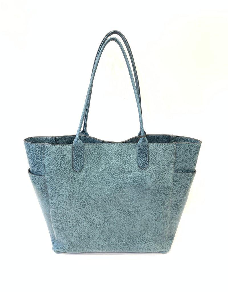 B.MAY BAGS - Large Tote Bag in Aqua