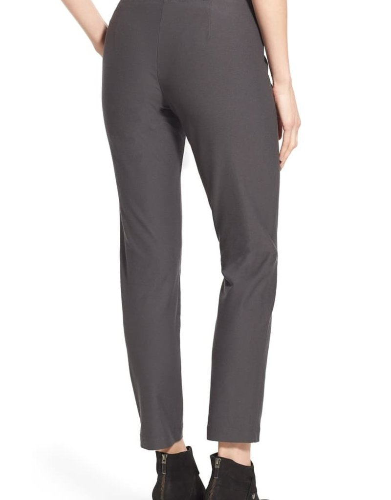 EILEEN FISHER - Stretch Crepe Ankle Pant in Charcoal