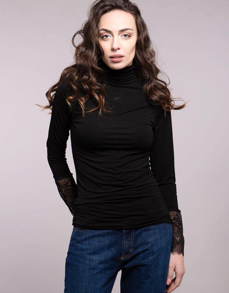 - Lace Sleeve Turtleneck