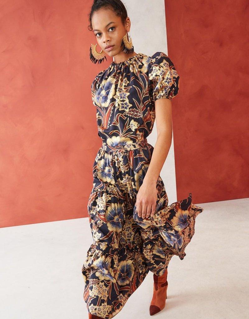 ULLA JOHNSON - Chantal Silk Skirt