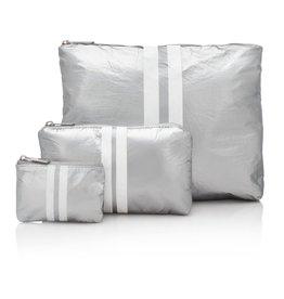 HILOVETRAVEL - Striped Silver 3 SET