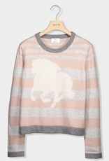 - Cashmere Stripe Sweater