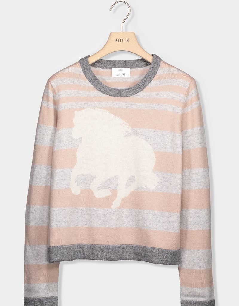 ALLUDE - Cashmere Stripe Sweater