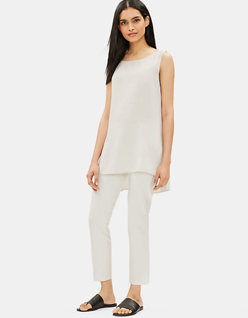 EILEEN FISHER - The System Silk Georgette Crepe Long Shell Tank