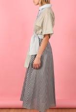 TELA - Stripe Shirt Dress