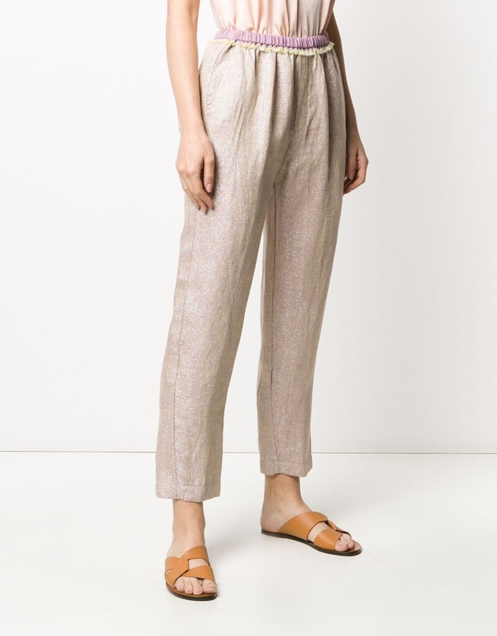 FORTE FORTE - Lurex Linen Cropped Pant
