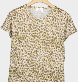 ALLUDE - Dotted Print Tee