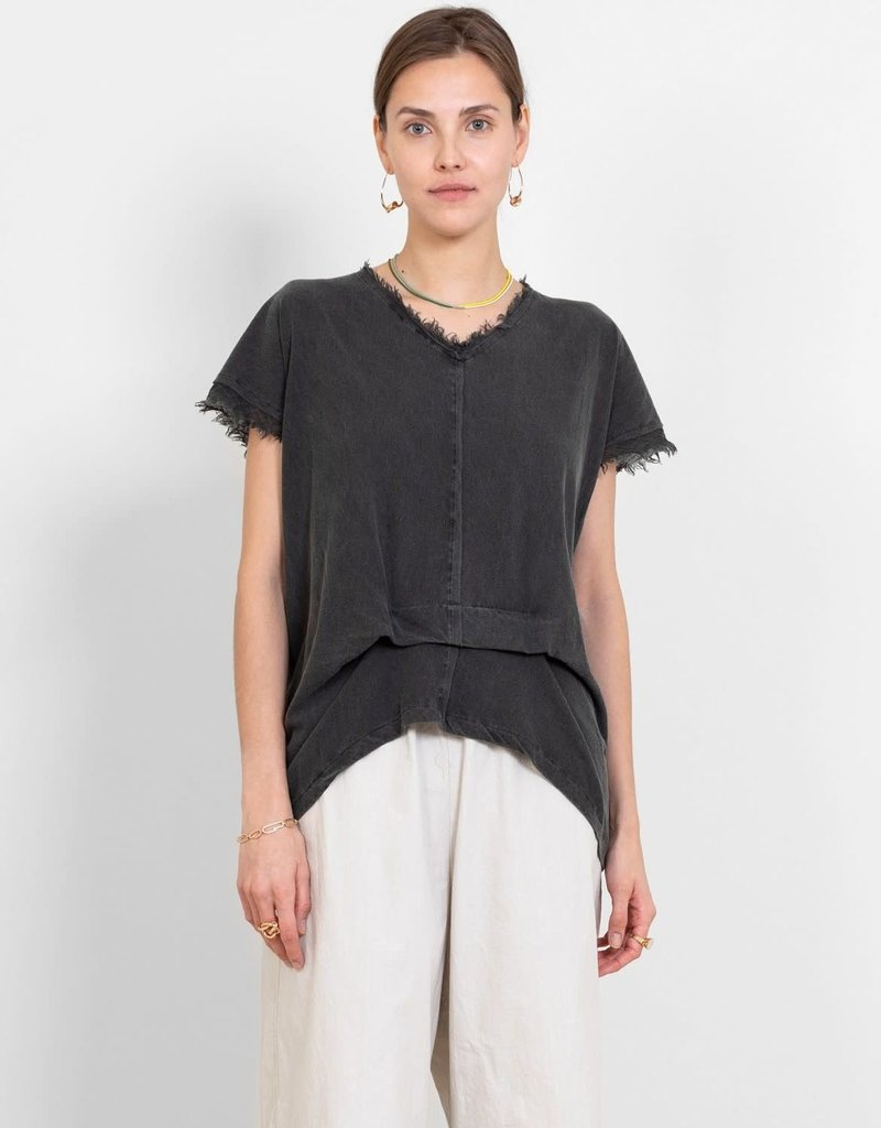 PAS DE CALAIS - Cotton Gathered Tee