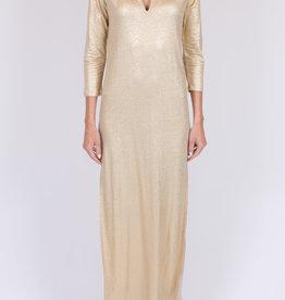 MAJESTIC - Metallic Maxi Dress