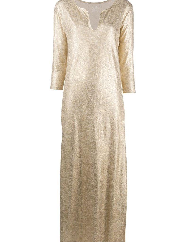 MAJESTIC - Metalliic Maxi Dress