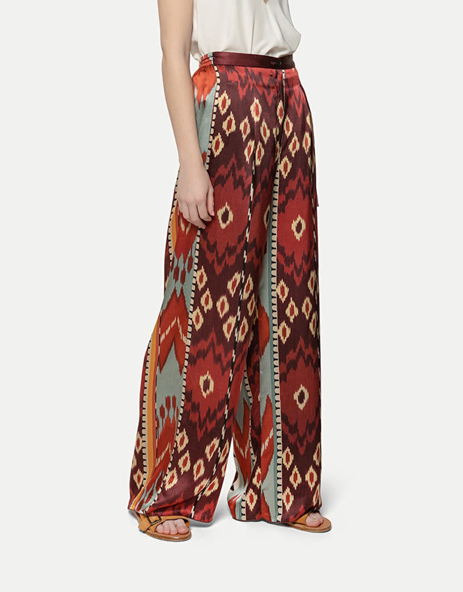 FORTE FORTE - Encens Print Wide Leg Trousers