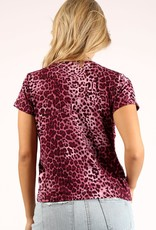 PRINCE PETER - Plum Cheetah Print Tee