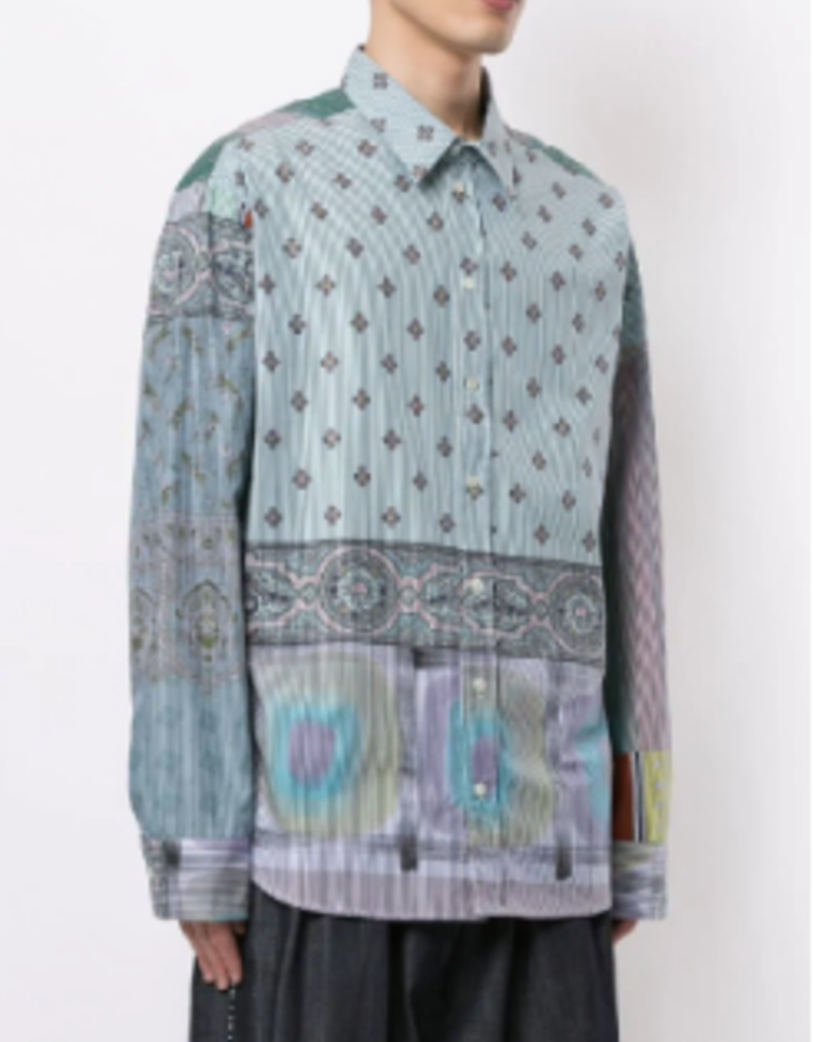 PIERRE-LOUIS MASCIA - Oversized Print Shirt