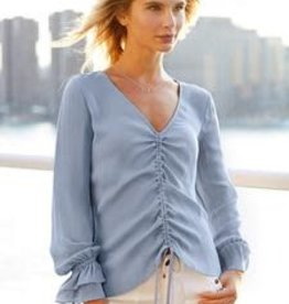GO SILK - Chambray Draw it up Top