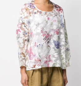 AVANT TOI - Sheer Floral Top