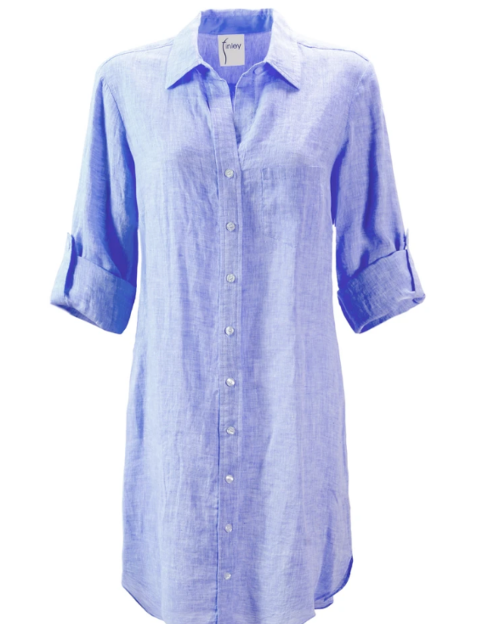 FINLEY - Alex Linen Shirtdress