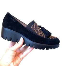 WONDERS - Leopard Print Loafer