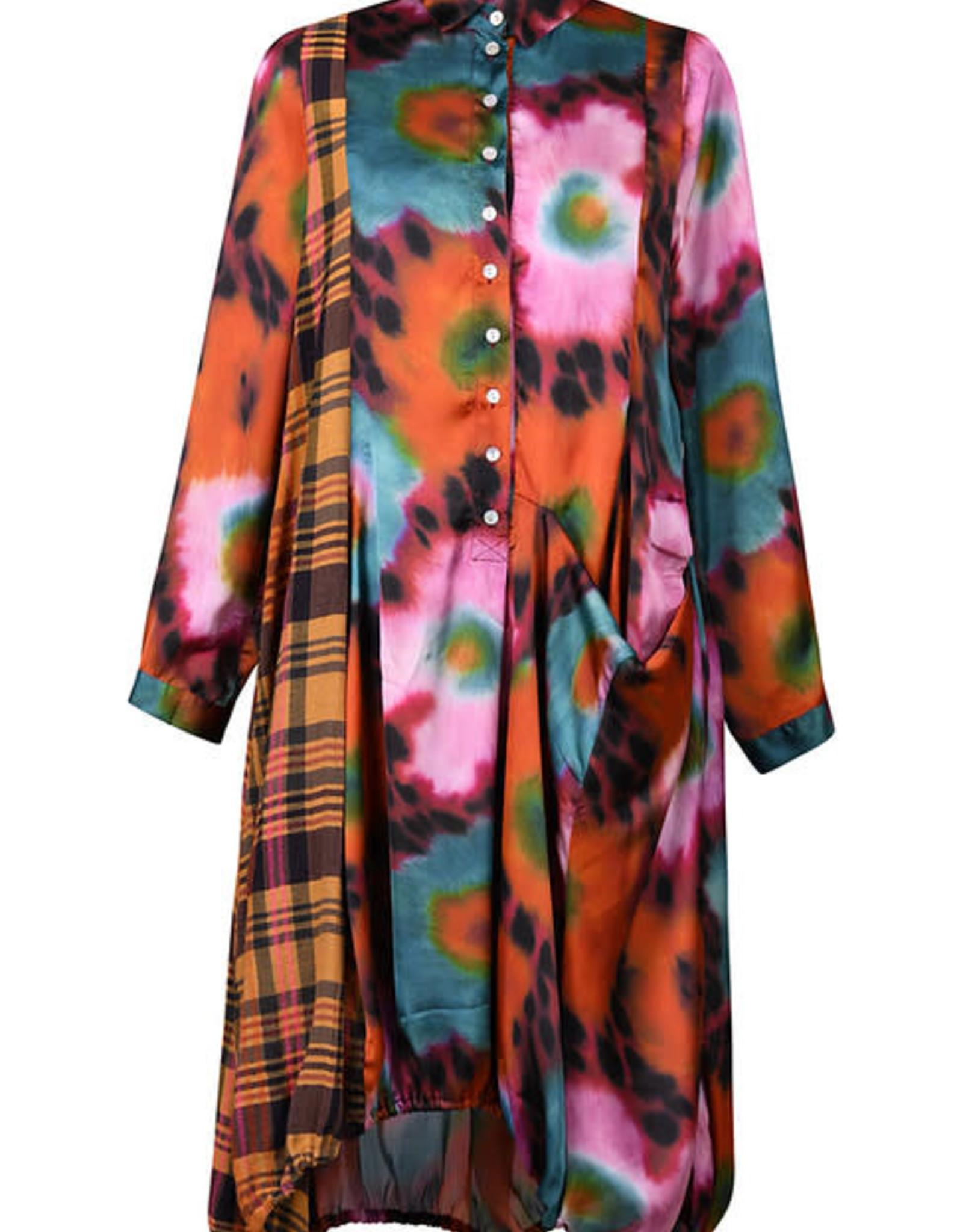 ALEMBIKA - Plaid/Floral Print Dress