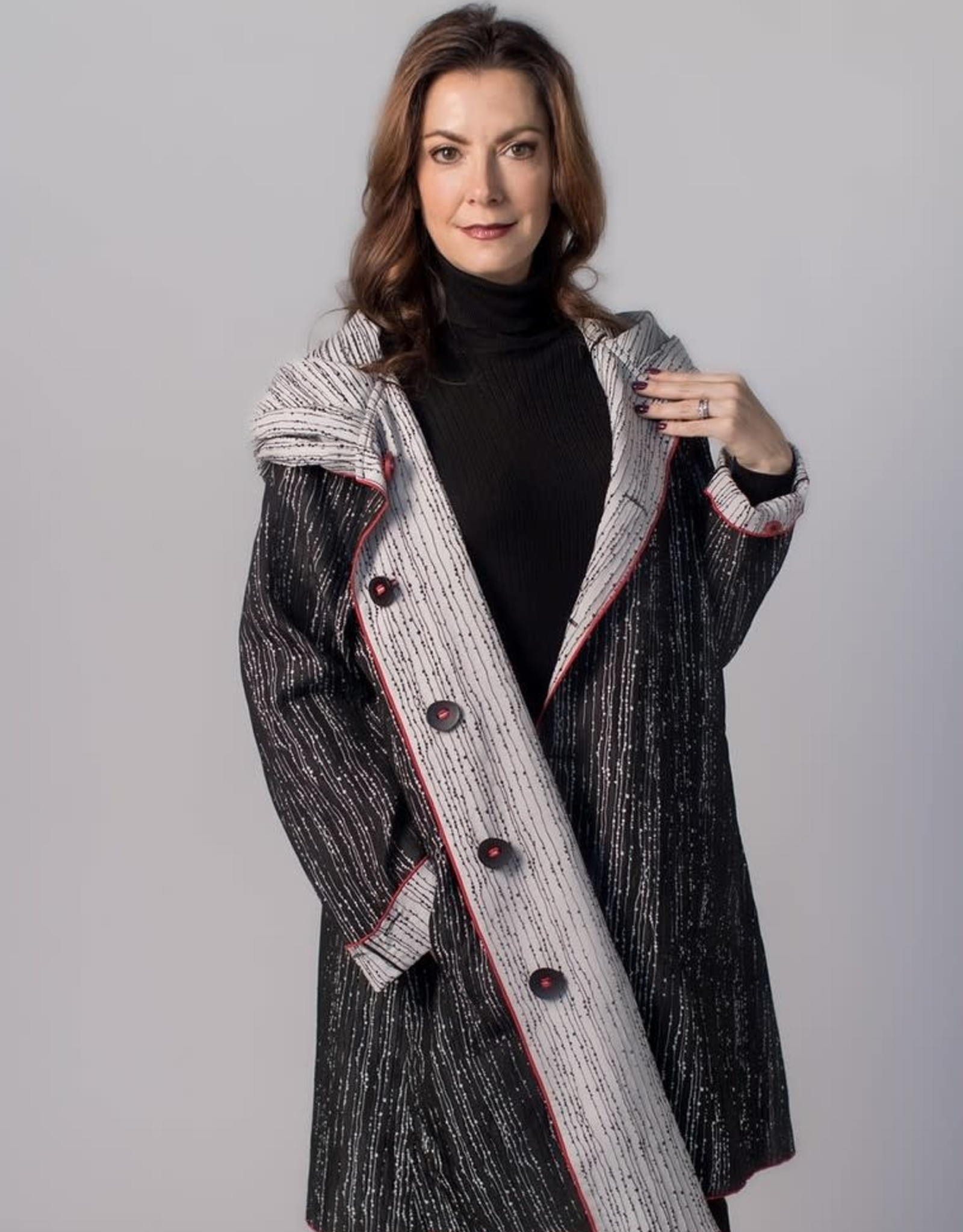 UBU - Stripe Reversible Raincoat