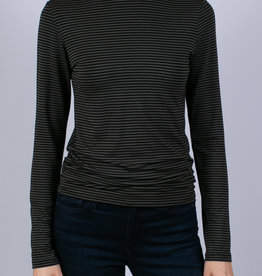MAJESTIC - Stripe Knit Top
