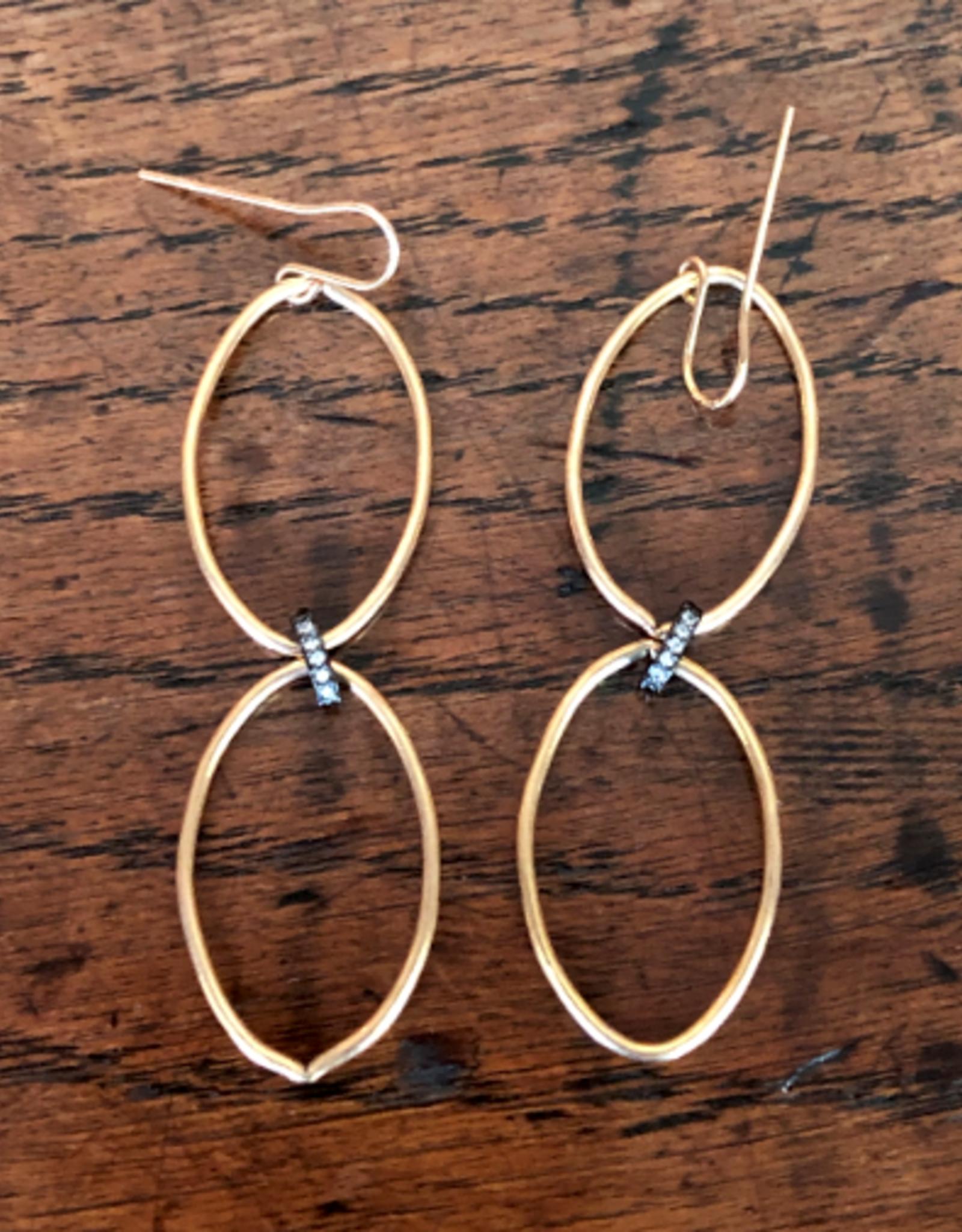 LOUISE ABROMS - Double Oval Earrings
