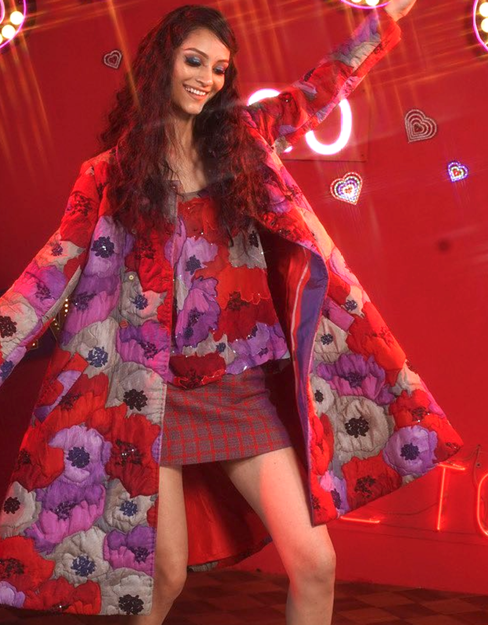 PERO - Hand Stitched Reversible Floral Coat