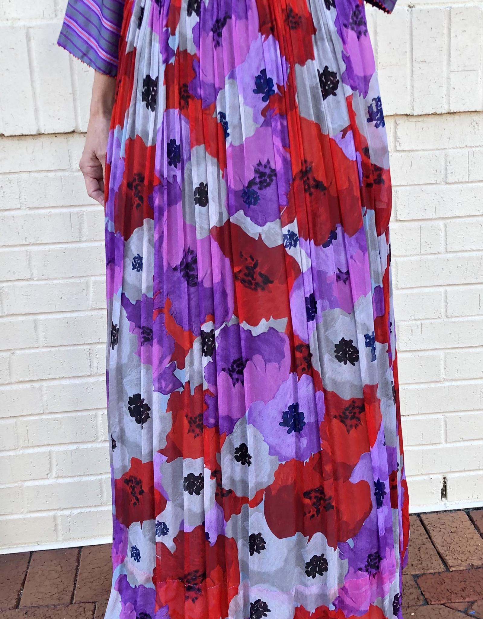 PERO - Floral Silk Skirt