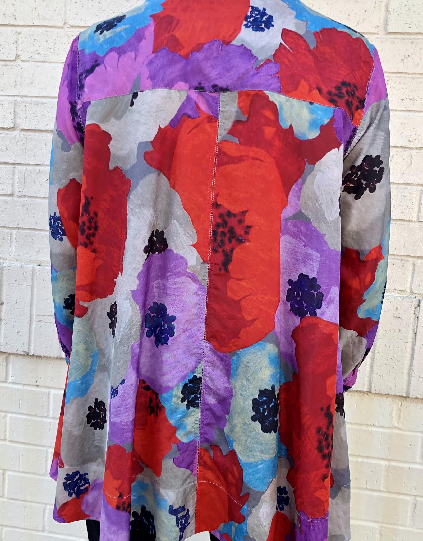 PERO - Silk Floral Top