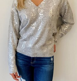 BRODIE - Foil Cashmere Sweater