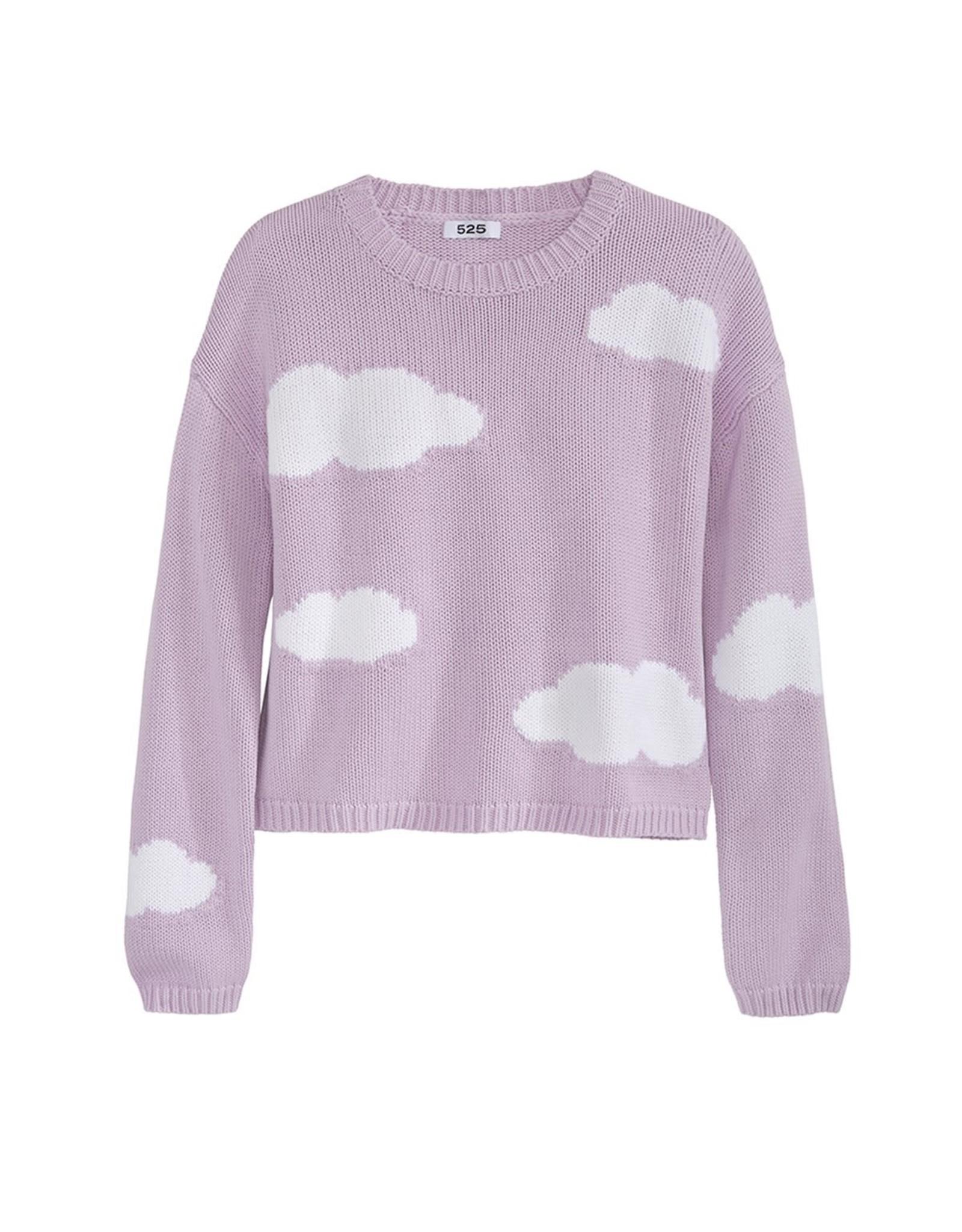 525 AMERICA Send in the Clouds Crewneck Sweater