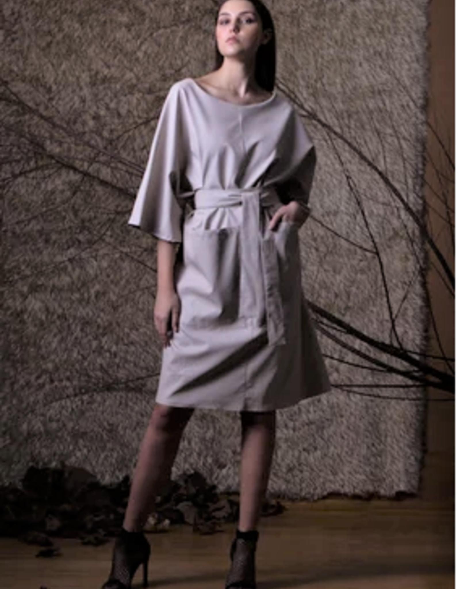 ALESSIO BARDELLE Pleather Tie Dress