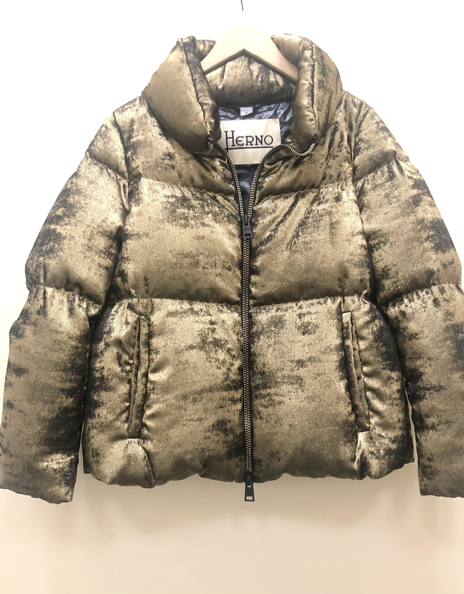 HERNO Metallic Puff Jacket