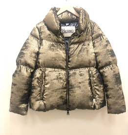 HERNO Metallic Puff Jacket