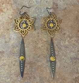 LOUISE ABROMS Mixed Metal Earrings