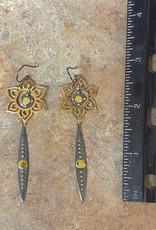 LOUISE ABROMS Mixed Metal Earrings