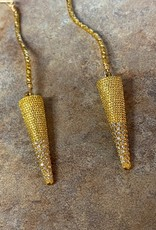 LOUISE ABROMS Gold Vermeil Drop Earrings