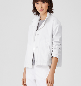 EILEEN FISHER Organic Cotton Collar Jacket